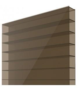 Поликарбонат сотовый 6х2,1х0,006. Цвет: бронзовый. Стандарт.