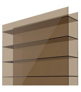Поликарбонат сотовый 6х2,1х0,01. Solidplast. Цвет: бронзовый. Стандарт.