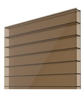 Поликарбонат сотовый 12х2,1х0,004. Solidplast. Цвет: бронзовый. Стандарт.