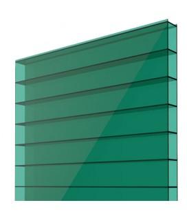 Поликарбонат сотовый 6x2,1х0,004. Soton. Цвет: зеленый. Премиум.
