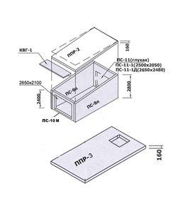 Гараж для легковой машины ПС-11М