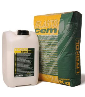Цементная двухкомпонентная эластичная гидроизоляционная смесь Litokol ELASTOCEM