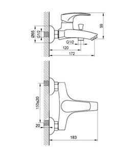 Смеситель для ванны Devit Comfort (23223123)