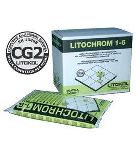 Цементная затирочная смесь для заполнения межплиточных швов шириной от 1 до 6 мм Litokol LITOCHROM 1-6