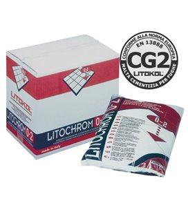 Цементная затирочная смесь для заполнения межплиточных швов шириной до 2 мм Litokol LITOCHROM 0-2