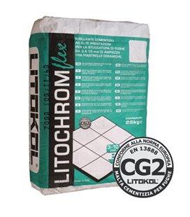 Эластичная цементная затирочная смесь для заполнения межплиточных швов шириной от 3 до 10 мм Litokol LITOCHROM FLEX 3-10