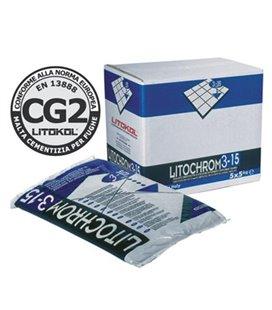 Цементная затирочная смесь для заполнения межплиточных швов шириной от 3 до 15 мм Litokol LITOCHROM 3-15