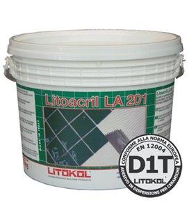 Белый дисперсионный клей с нулевым вертикальным сползанием LITOACRIL LA201 (10 кг)