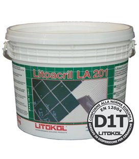 Белый дисперсионный клей с нулевым вертикальным сползанием LITOACRIL LA201 (25 кг)