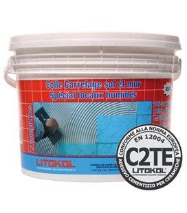 Белый дисперсионный клей с увеличенным временем открытого слоя и нулевым вертикальным сползанием Litokol LITOACRIL PLUS (25 кг)