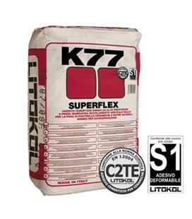 Высокоэластичный клей для укладки керамогранита и натурального камня Litokol SUPERFLEX K77