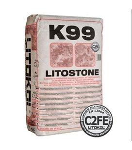 Клей белого цвета быстрого схватывания и высыхания для укладки керамогранита, натурального камня, мрамора Litokol LITOSTONE K99