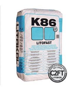 Клей быстрого схватывания для укладки керамогранита и натурального камня Litokol LITOFAST K86