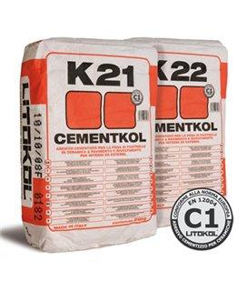 Клей на цементной основе для керамической облицовки Litokol CEMENTKOL K22