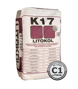Клей на цементной основе для керамической облицовки Litokol K17