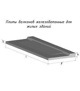 Балконные плиты консольные ПБК 24.12-5а