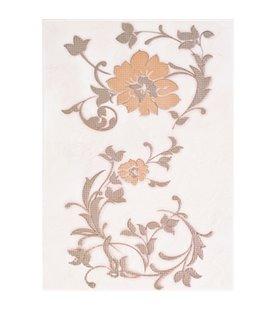 Плитка Cersanit Aura Цветое беж декор 25х35