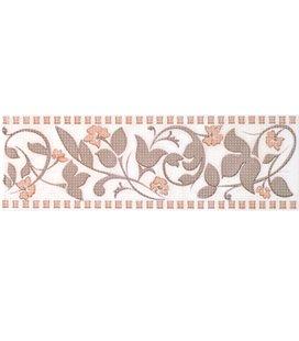 Плитка Cersanit Aurora Цветок беж фриз 8х25
