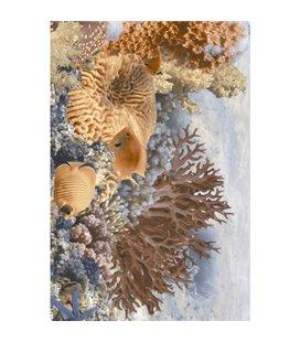 Плитка Golden Tile Agat голубой декор И33311