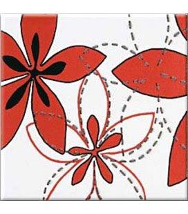Плитка Opoczno Aplauz флауэр 1 красный декор