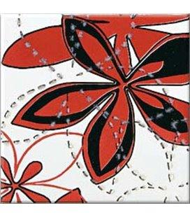 Плитка Opoczno Aplauz флауэр 2 красный декор