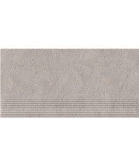 Плитка Opoczno Gres Dry river ступенька светло-серый 29,55X59,4