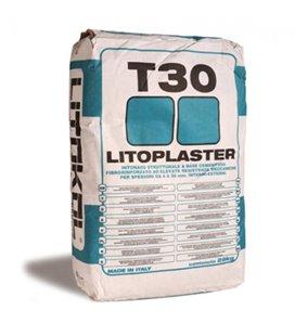 Фиброцементная штукатурка с высокой механической прочностью для выравнивания Litokol LITOPLASTER T30