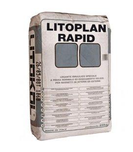 Цементная тиксотропная штукатурка быстрого схватывания и высыхания для вертикального и горизонтального нанесения Litokol LITOPLA