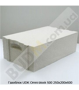 Газоблок UDK Omni-block 500 250х200х600
