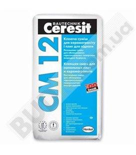 Клей для плитки и керамогранита Cerasit CM 12 (25кг)