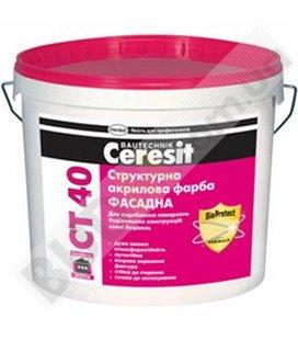 Краска структурная акриловая Ceresit CT 40 (10л)