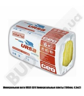 Минеральная вата URSA GEO Универсальные плиты (100мм, 4,5м2)