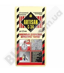 "Штукатурка минеральна ""Короед""Artisan С-34 (25кг)"