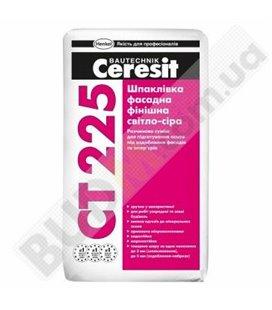 СТ 225 шпатлевка фасадная финишная Ceresit (светло-серая), 25кг