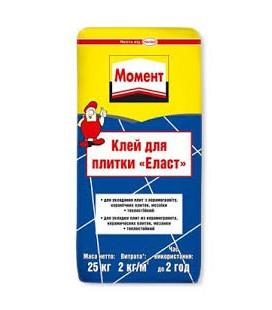 Клей для плитки Момент Эласт, 25 кг
