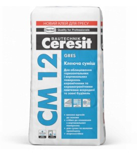 CM 12 Gres клеящая смесь Ceresit, 25 кг