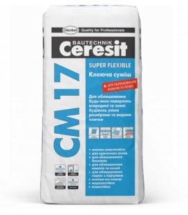 CM 17 Super Flexible клеящая смесь Cerasit, 25кг