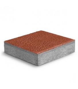 """Тротуарная плитка Ромб """"Фьюжн"""" К-6. Цвет: коралл."""