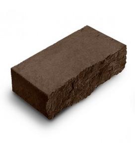 """Фасадный камень """"Рустик"""". Цвет: венге."""