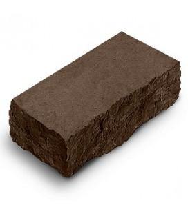 """Фасадный камень """"Рустик"""" угловой. Цвет: венге."""