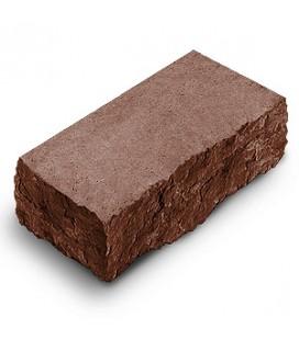 """Фасадный камень """"Рустик"""" угловой. Цвет: порфир."""