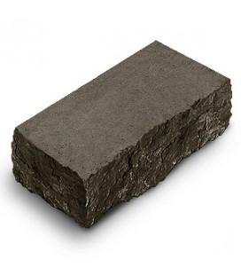 "Фасадный камень ""Рустик"" угловой. Цвет: габро."