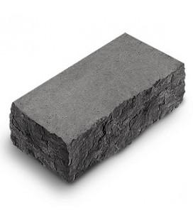 "Фасадный камень ""Рустик"" угловой. Цвет: серый."